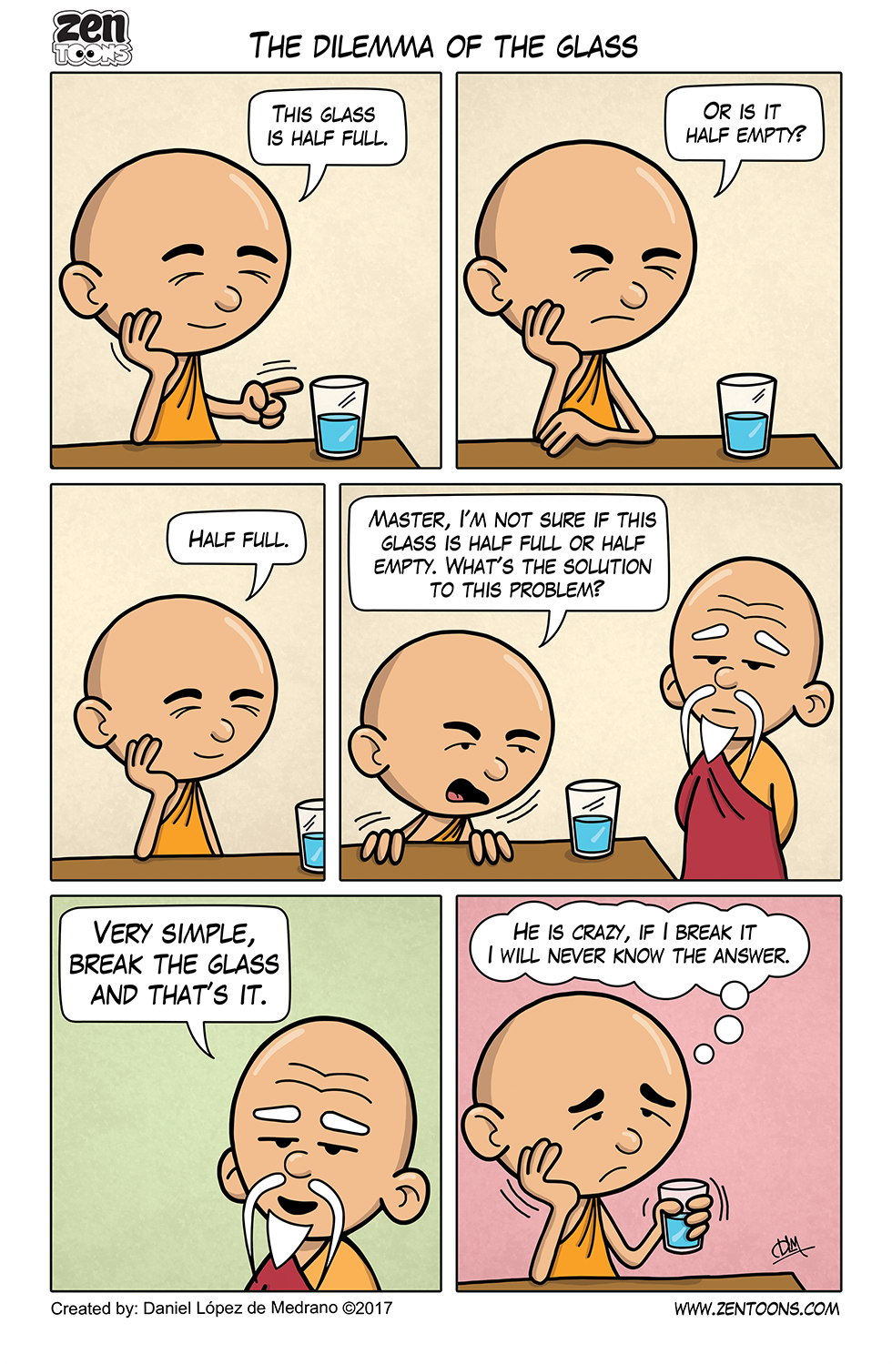 010. ZEN TOONS: The Dilemma of the Glass