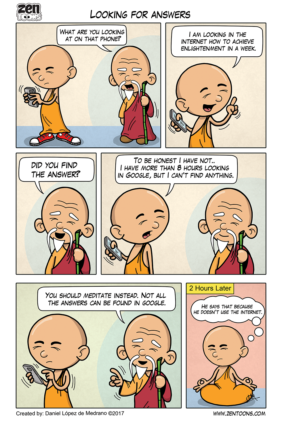 006. ZEN TOONS: Looking for Answers.